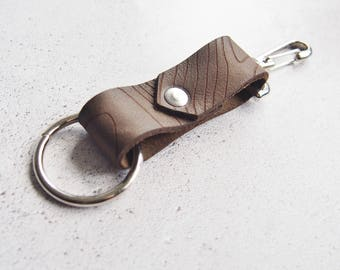 Ben Nevis key fob, personalised leather keyfob mountain hiking accessories mountaineering gift topography leather map keyring fathers day