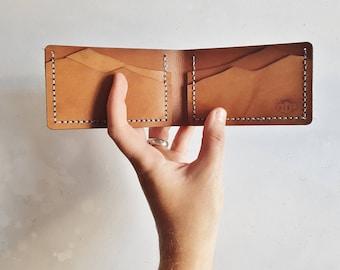 Mountain Wallet, bi fold leather credit card holder outdoorsy wallet leather custom wallet personalised card holder custom credit card case