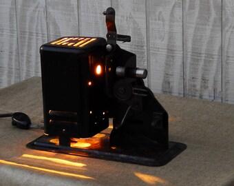 Vintage Projector Lamp Unique Bookshelf Light Steampunk Desk Industrial Gift For Dad