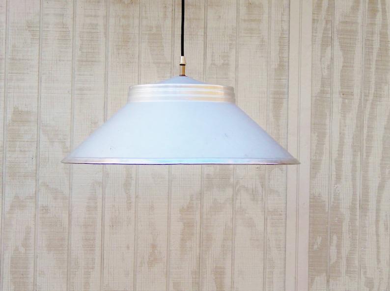 Aluminum Light Unique Light Fixture Pendant Lighting Mid Century Hanging LIght Industrial Lighting Vintage LIght Vintage Metal Shade