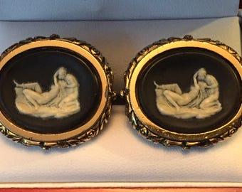 Rare Vintage Dante Museum Masterpiece Cupid and Psyche Cufflinks