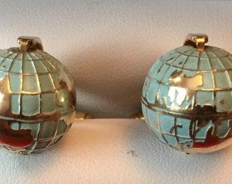 Vintage RARE Austrian Working Globe Cufflinks