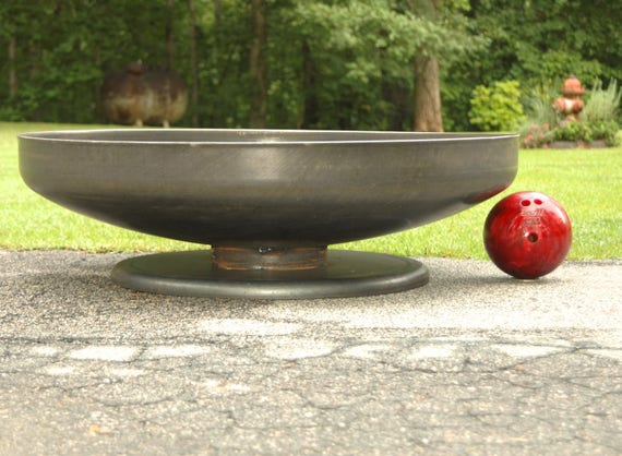 image 0 - Fire Pit NEW 48 Inch Shallow Low Rider Pedestal Base Etsy