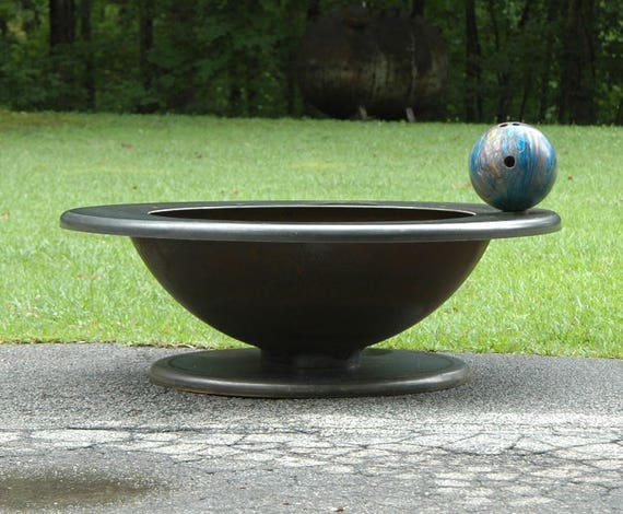 image 0 - 48 Inch Fire Pit Table Top Pedestal Base With 36 Bowl Etsy