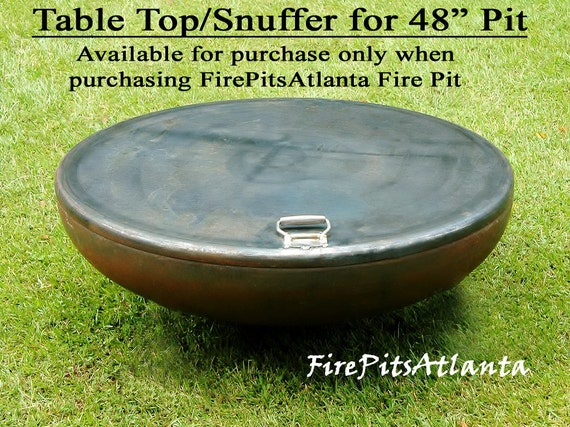 image 0 - Fire Pit 48 Inch Steel Table Top Shipped With Firepit Only Etsy