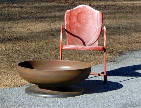 image 0 - Fire Pit 30 Inch Medium Depth Pedestal Base Firepit Metal Etsy