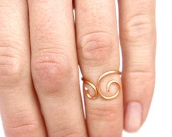 Feminine, Delicate, Copper Knuckle Ring Jewelry Accessory