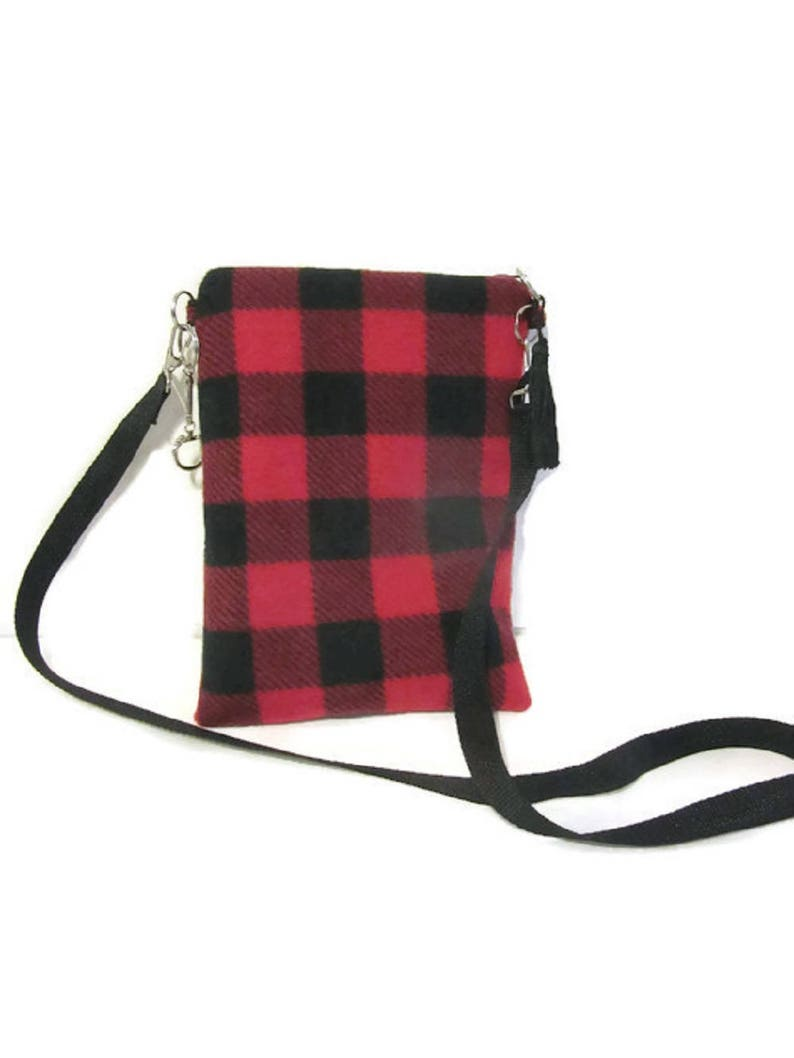 Crossbody Bags, Buffalo Check, Plaid, Red Black, Lumberjack, Vintage,  Handmade, Gift For Mom, Women, Purse