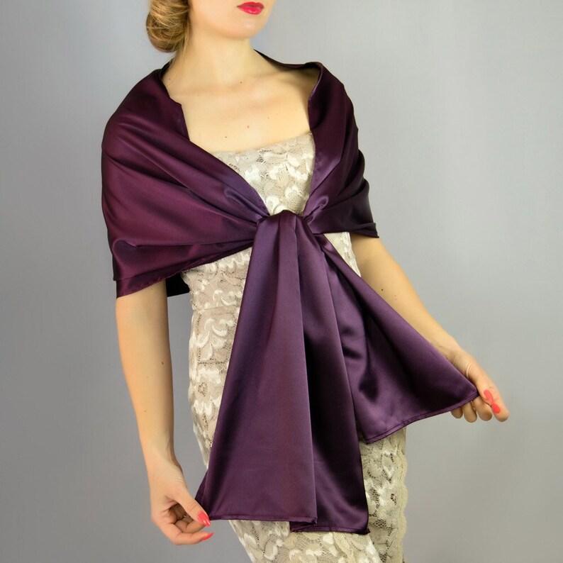 d677486e6359 Burgundy wine aubergine mauve eggplant wrap shawl bolero | Etsy