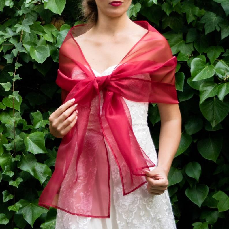 e81c5f4a38cd Luxury Organza wrap shawl bolero Winter wedding shrug elegant | Etsy