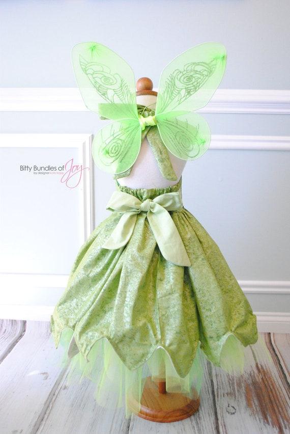 Tinkerbell Halloween Costume Tinkerbell Dress Fairy Dress | Etsy