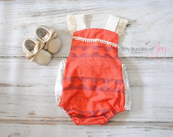 Baby Moana Inspired Costume - Little Sister Moana Romper - Baby Sister Moana Costume - Baby Girl Moana Outfit - Girl Moana Dress