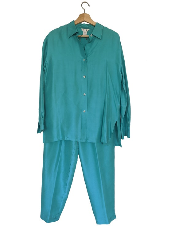 Silk Teal separates set