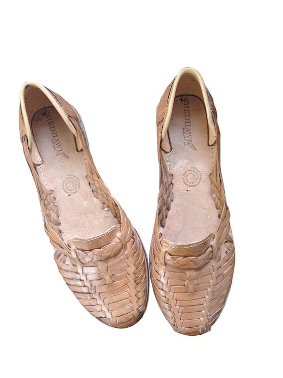 Leather hurache sandals