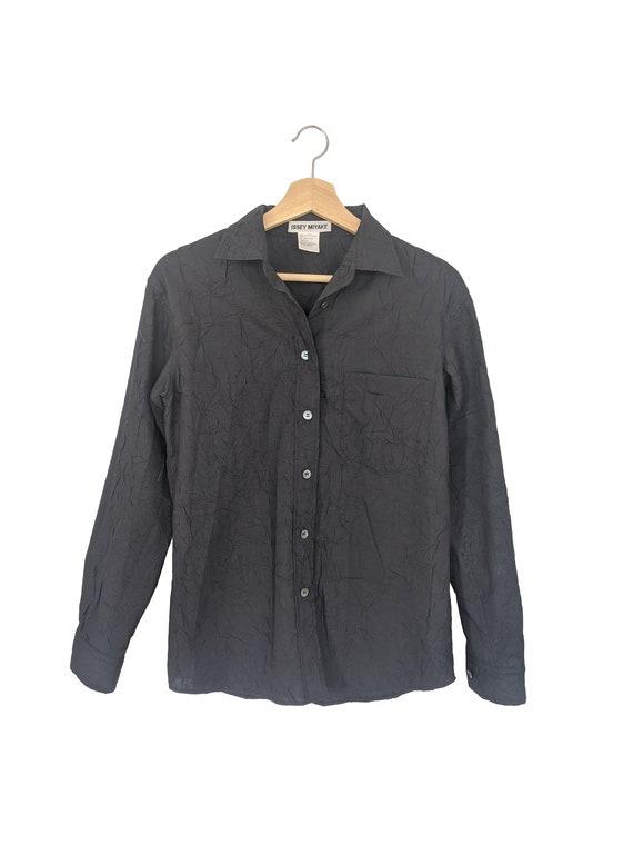 Issey Miyake textured button-up shirt