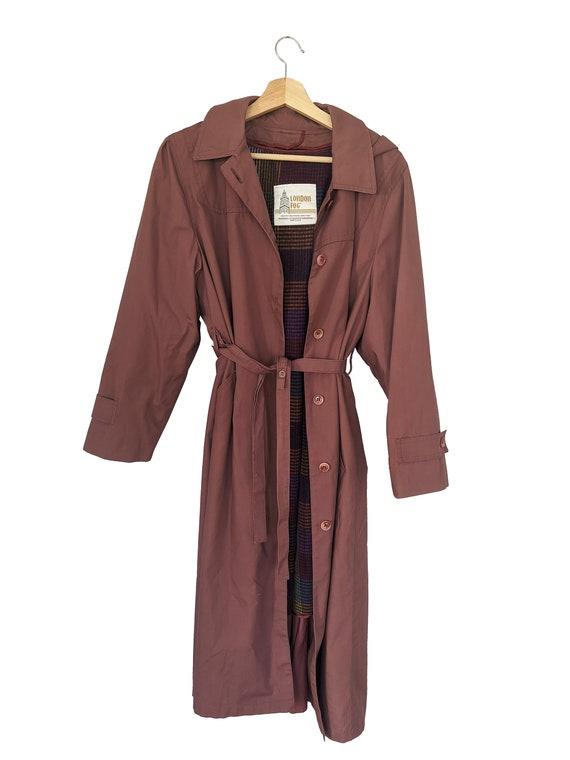 Mauve London Fog trench coat