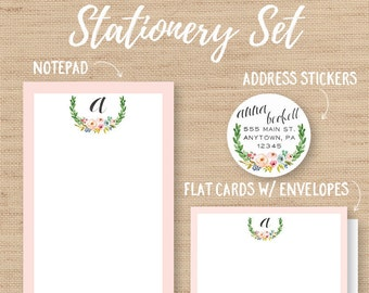 Personalized Stationery Set, Personalized Card, Address Labels, Custom Stationery, Letter Writing Set, Personal Stationery, Stationery Paper