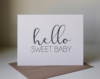 Baby arrival card etsy hello baby card new baby card new baby girl card new parents greeting card pink baby greeting card new baby girl new arrival card m4hsunfo