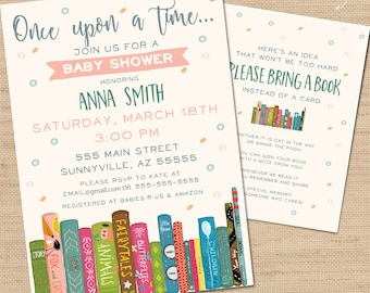 Book baby shower Etsy