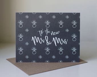 Wedding Card, Congrats to the New Mr. and Mrs., Happy Engagement Card, Congratulations Wedding, Wedding Gift, Wedding Greeting Card