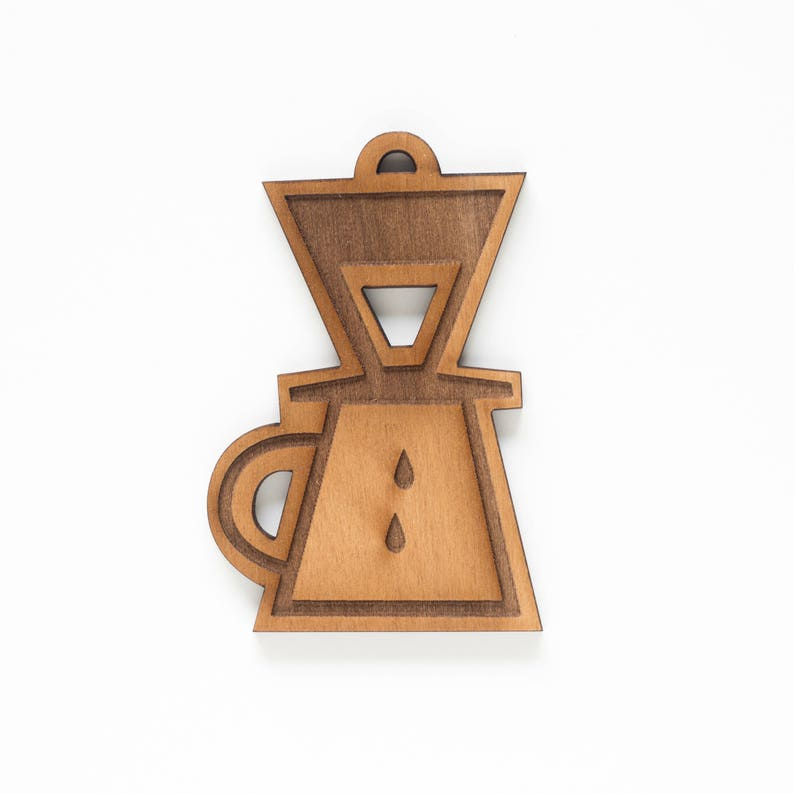 Pour Over Coffee Single Ornament  Coffee Lover  Coffee Fan image 0