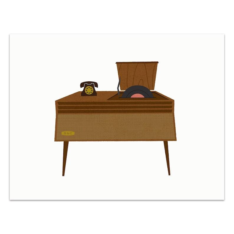 Record Player  Top Loading Art Print image 0