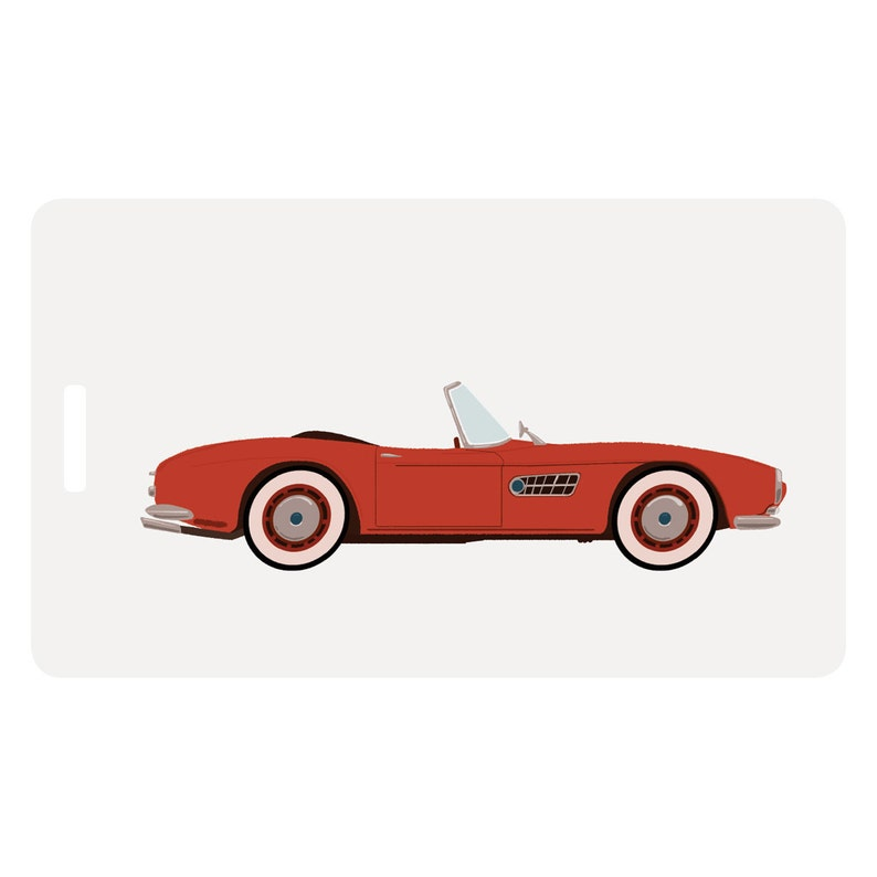 Cheri  Cherry Red Convertible Luggage Tag image 0