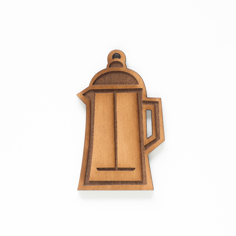 French Press Coffee Single Ornament  Coffee Lover  Coffee image 0