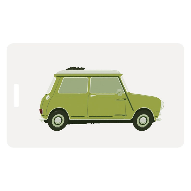 Lucy  Lime Green Rag Top Mini Luggage Tag image 0