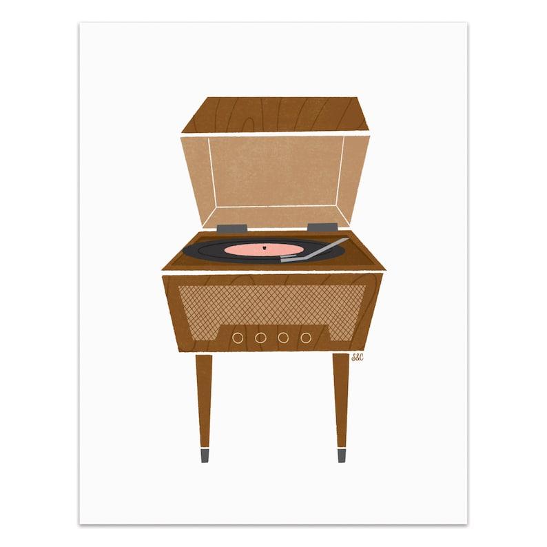 Record Player  Standalone Art Print image 0