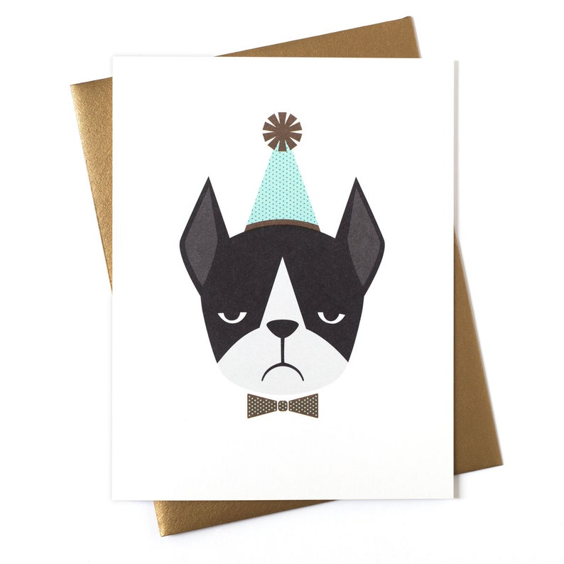 Frenchie Birthday Card  Greeting Card image 0