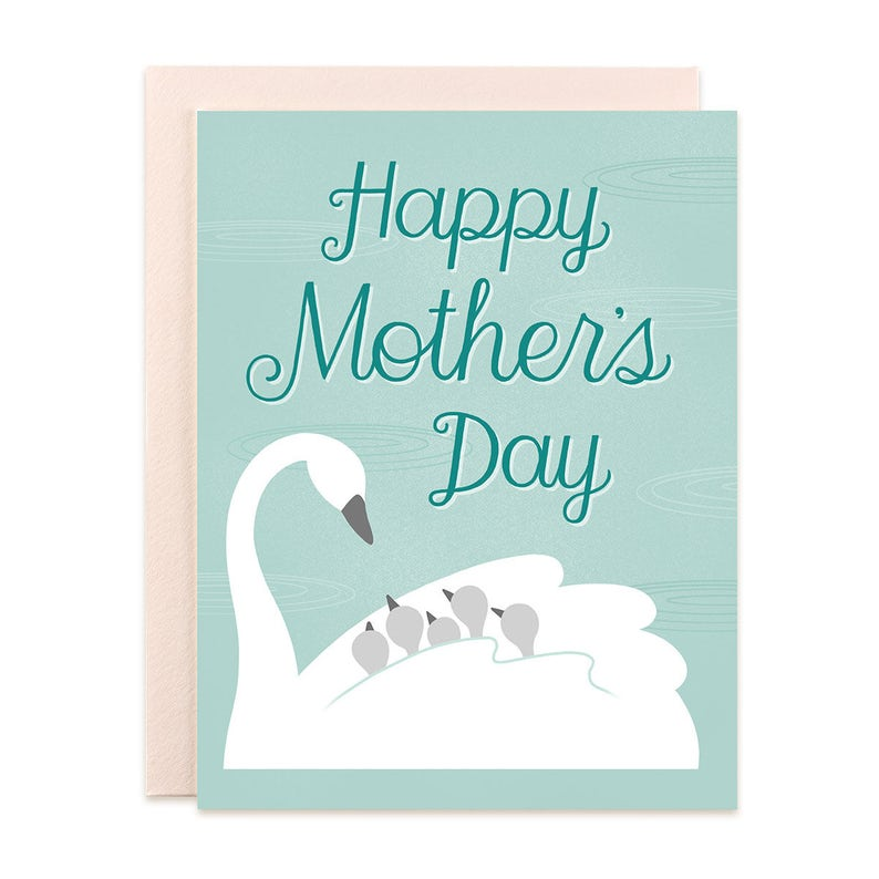 Happy Mother's Day Swans Card image 0