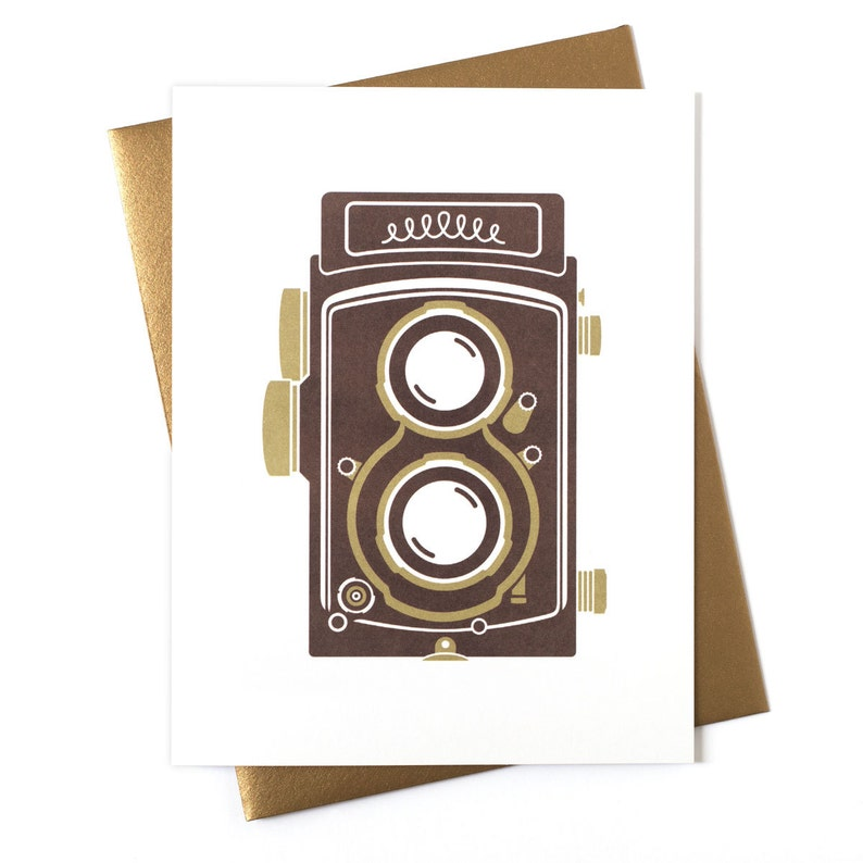 Blank Card  Any Occasion Card  Camera Twin Lens Reflex image 0