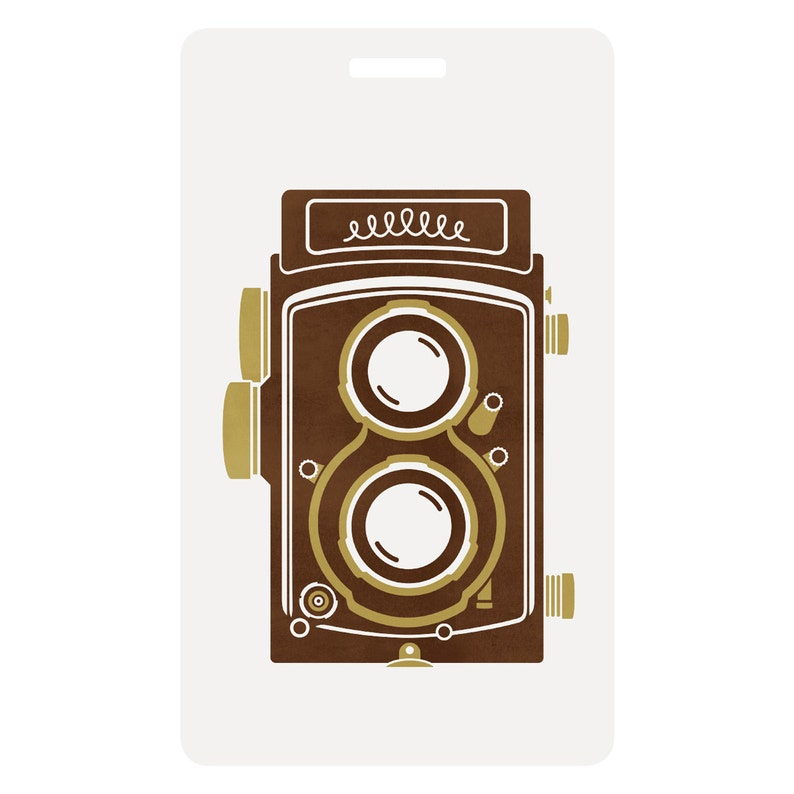TLR Camera Luggage Tag image 0