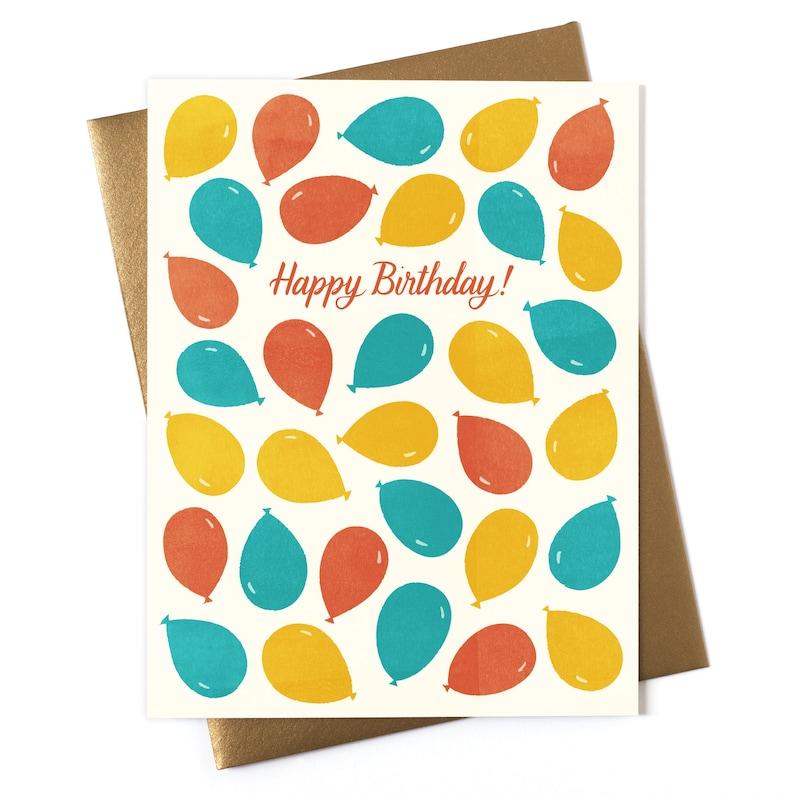 Happy Birthday Balloons  Greeting Card image 0