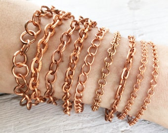 Copper Jewelry Moonkist Gallery Copper Charm Bracelet Copper Bracelet Copper Chain Link Bracelet
