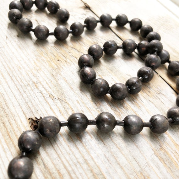 Hand Antiqued Brass Chain Funky Bead Chain 9.5mm Patina/'d Solid Brass Huge Chunky Ball Chain