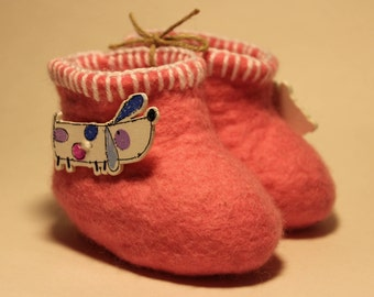 baby felted booties
