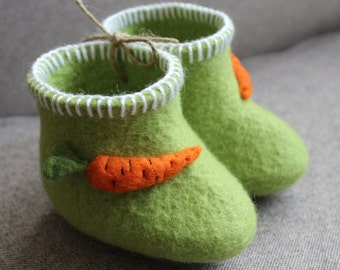 booties with carrots
