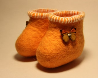 infant felted booties