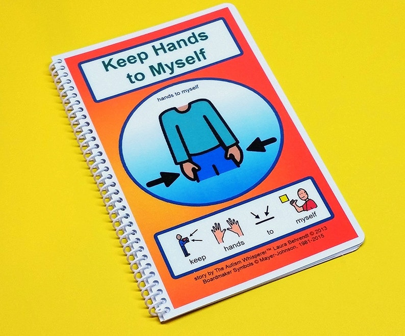 Keep Hands to Myself  Autism Social Skills Story  PCS  self image 0