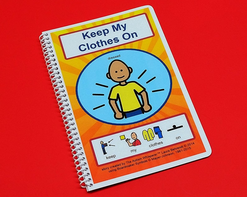 Keep My Clothes On  Autism Social Skills Story  PCS  image 0