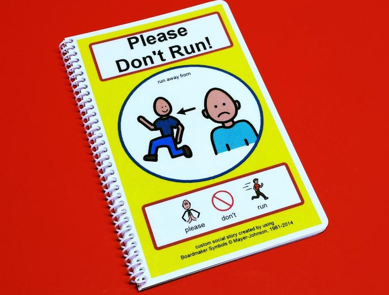 Please Don't Run  Autism Social Story  PCS Visual Aid image 0