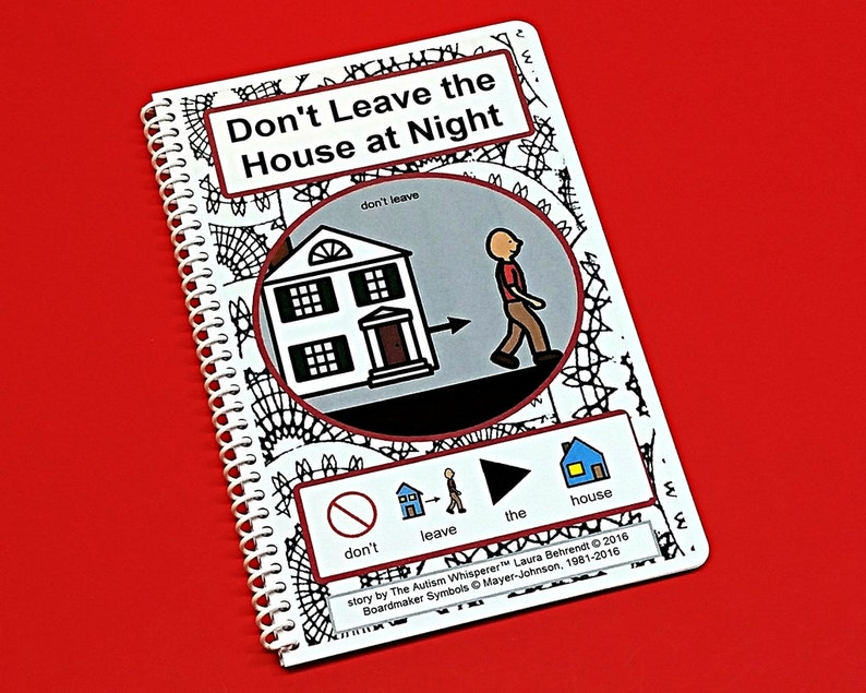 Don't Leave the House at Night  PECS Social Story with image 0