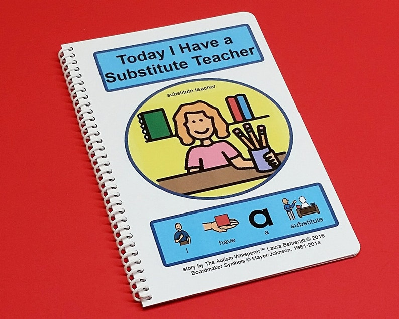 Today I Have a Substitute Teacher  PCS Autism Social Story  image 0