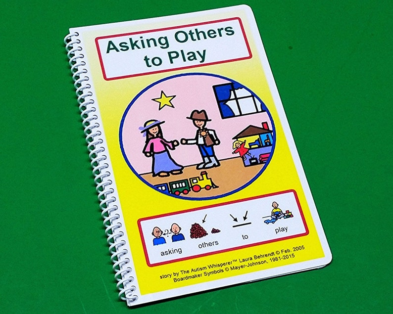 Asking Others to Play  Autism Social Skills Story  PCS  image 0