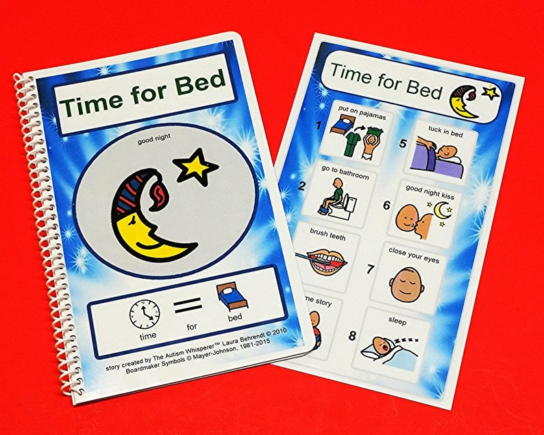 Time for Bed PCS Social Story and Picture Schedule Board for image 0