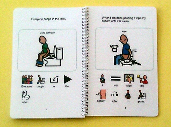 Yes I Can Poop PCS Autism Social Story Visual Therapy Book The Autism Whisperer