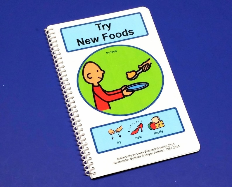 Try New Foods PCS Autism Social Skills Story  ABA Autism image 0