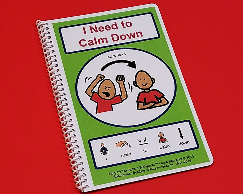 Calm Down  I Need to Calm Down Autism Social Skills Story  image 0